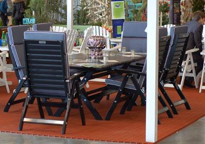 Черная садовая мебель Inox - стильно и современно